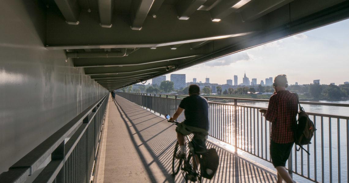 Kładki Pieszo-rowerowe pod Mostem Łazienkowskim